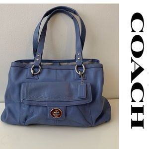 COACH Penelope Bag Purse Handbag Leather Blue Grey